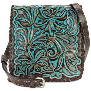 Patricia Nash Leather Tooled Turquoise Granada